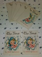 Vintage Birth Announcements 5 With Envelopes & 2 Without