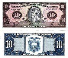 Equateur ECUADOR Billet 10 Sucres 1988 P121 DE BENALCAZAR NEUF UNC