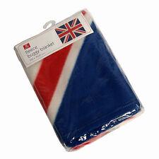 BANDIERA UNION JACK soft fleece BUGGY aperto vintage Gran Bretagna 100 x 75 cm
