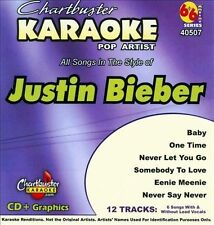 Chartbuster Karaoke: Justin Bieber by Karaoke (CD, Aug-2010, Chartbuster Kara...