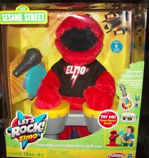 "Sesame Street Let's Rock Elmo sings six rockin' songs 13""  NIB"