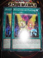 YU-GI-OH! COM ROTATION DE PLATEAU PLAYSET (2 CARTES) MACR-FR064 ED1 NEUF MINT