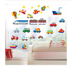 Cartoon Vehicles Wall Stickers Kids Baby Rooms Home Decoration Gift Birthday