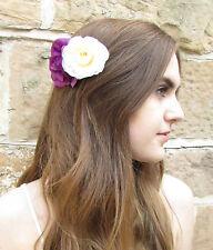 Violet & Blanche Ivoire Rose Camellia Fleur Peigne À Cheveux Vintage