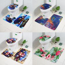 3pcs/set Printed Non Slip Water Absorb Floor Rugs Carpet Mats Pad Bathroom Decor