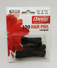 New! Annie 100 Hair Pins Crimped Black  3 Size Ball Tipped Pin Clips