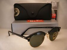 Ray Ban 4246 Clubround Black w Green Crystal (G-15) Lens (RB4246 901)