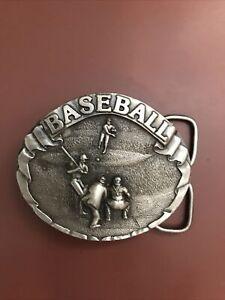 1977 baseball vintage belt buckle bergamot brass works