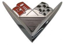 1961 61 Chevy Impala Bel Air Rear Trunk Emblem V8 348