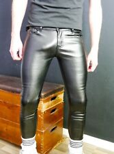 Gay Skinnyfit Stretch Faux Lederjeans v. Berliner Burschen Gr. 27 max 28