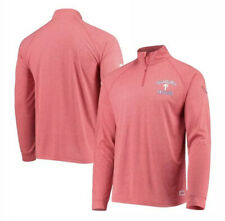 Men's Philadelphia Phillies Stitches Heathered Quarter-Zip Pullover Jacket LARGE
