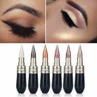 6 Colours Novel Eyeliner Eyeshadow 2 in 1 Eye Makeup Pencil Metallic Shimmer UK