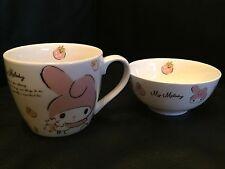 Sanrio Strawberry My Melody Ceramic Bowl / Cup Set (2013) ~~ NEW!