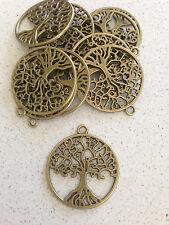 Antique Bronze Tree of life charms / pendant x 10