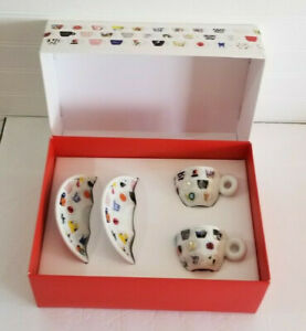 illy Art Collection 25th Anniversary Boxed Set Espresso Cups and Saucers Italy