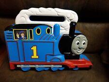 Vintage ERTL Thomas the train carry storage case box 9 trains vehicle toy blue