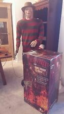 *MINT CONDITION* LIFE SIZE ANIMATED 6 FT FREDDY KRUEGER GEMMY HALLOWEEN PROP