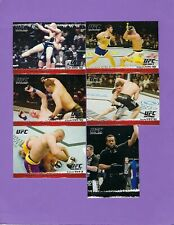 6 Card Lot - 2009 Topps UFC Round 1 CAIN VELASQUEZ PATRICK COTE SEAN SHERK