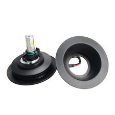 Pair Universal Rubber Housing Seal Cap Headlight Dust Cover For LED HID Retrofit