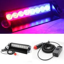 8 LED Car Emergency Strobe Light Bar Police Warning Flash Visor Dash Lighting