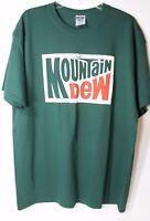 Mountain Dew T-shirt Size XL Green Cotton Blend-50 Poly/50 Cotton