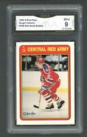 1990 O-Pee-Chee OPC Red Army #19R Sergei Fedorov RC Rookie Graded GMA 9 MINT