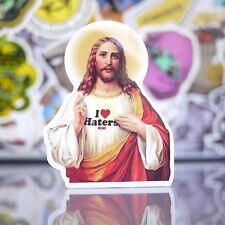 Jesus Christ Ethereal Light I Love Hater Skateboard Sticker Suitcase Decal_G38