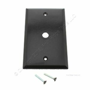 """Cooper Brown Telephone Coaxial Cable Thermoset Wallplate Cover .375"""" Hole 2128B"""