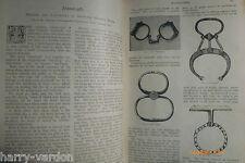 Handcuffs Police Nippers Snap Corde Menotte Poucette Rare Victorian Article 1894