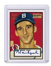 1982 ASA The Story Red #2 Warren Spahn Boston Braves Baseball Card