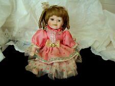 """10"""" Porcelain Bisque Girl Doll Ashley Belle Doll Artist Sitting Position"""