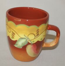 Santa Fe Orange Mug Laurie Gates Southwestern Chili Pepper 12 Ounces Coffee Cup
