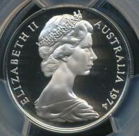 Australia, 1974 Twenty Cents, 20c, Elizabeth II - PCGS PR69DCAM (Proof)