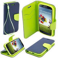 ^ Book Case Case Flexi Hülle Handy Tasche Etui Flip Lenovo A7010 DUNKEL BLAU