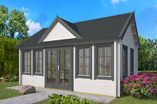 70mm Gartenhaus ISO + Fussboden 550x400cm Blockhaus Holzhaus Ferienhaus Holz NEU