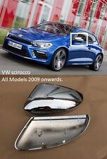 VW Scirocco ala de cromo espejo cubre Reemplazo Directo OEM Fitment