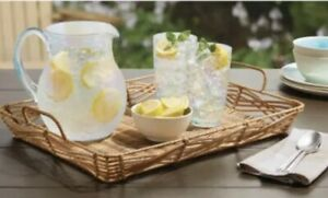 Better Homes & Gardens Alameda Resin Rattan Serving Tray Drink Rectangular Woven
