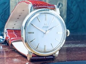 1956 OMEGA AUTOMATIC MAN'S WRIST WATCH Fine Cond Cal.500 Minty Dial KEEPING TIME