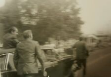 VINTAGE 1971 NASHUA NH PRESIDENT NIXON RUNNING MAN SECRET SERVICE ARTISTIC PHOTO