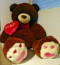 "Jumbo Plush Teddy Bear XOXO Pillow stuffed animal 42"""