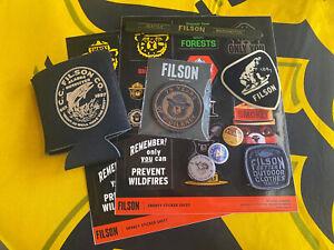 filson smokey the besr patch pinbacks pencil koozie sticker set