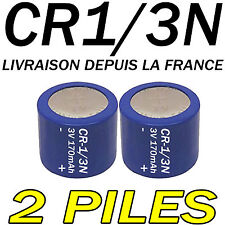 2 PILES ACCUS BOUTON CR1/3N 170mAh LITHIUM 3V 2L76 BATTERIE BATTERY