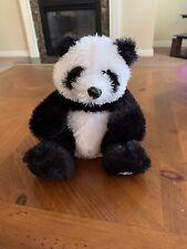"Webkinz Ganz stuffed plush toy Panda Bear HM111 7"" no code black and white"