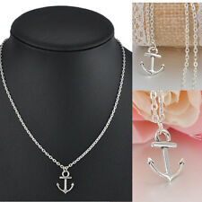 Fashion Simple Unisex Cute Anchor Pendant Necklace Long Chain Jewelry Gift