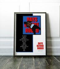 "Travis Scott /""Days Before Rodeo/"" Art Music Album Poster HD Print 12/"" 16/"" 20/"" 24/"""