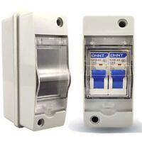 2 ways Plastic Distribution Box Waterproof Switch Box for Circuit Breaker