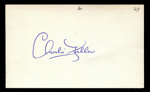 Charlie King Kong Keller (d. 1990) signed autograph Baseball 3x5 Card 3016-28