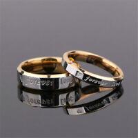 Titanium Steel Forever Love Ring Men Women Promise Couple Wedding Band Ring Hot