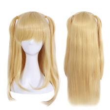 9513d06d25c Anime Game Cosplay Wig Misa Amane Elina Vance Blonde Long Straight Women  Hair