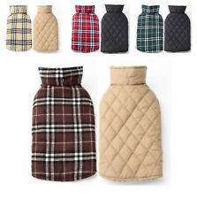 Dog Coat Windproof Winter Warm British Style Plaid Vest Apparel Jacket For Pet